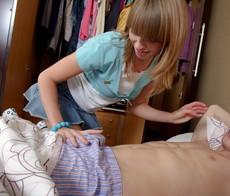 Blonde teen decides to awaken her..