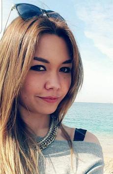 Beautiful asian young girlfriend from..