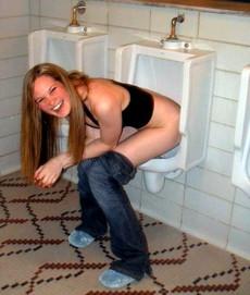 Nasty girlfriends in the bathroom...
