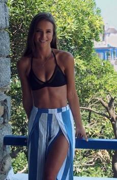Pretty girl on vacation, beautiful,..