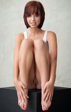 Slim Chinese girl with hairy pubic and..