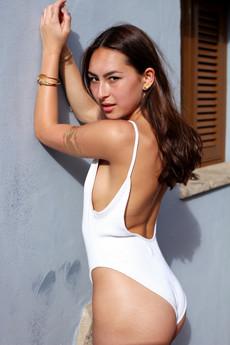 Beautiful young model posing for..