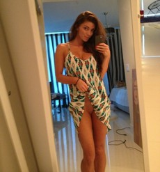 Amazing brunette teen in a amazing..
