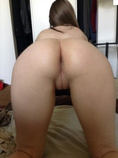 Slim Tiny flashing hairy pussy in the..