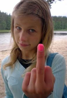 Beautiful teenage schoolgirl, cute and..